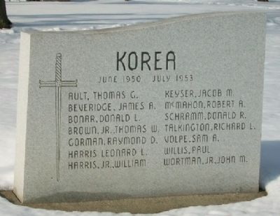 War Memorial Honored Dead - Korea image. Click for full size.