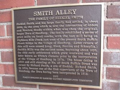 Smith Alley Marker image. Click for full size.