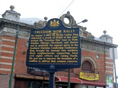 Freedom Now Rally Marker image. Click for full size.