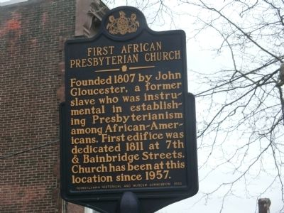 First African Presbyterian Church Marker image. Click for full size.