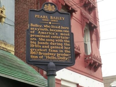 Pearl Bailey Marker image. Click for full size.