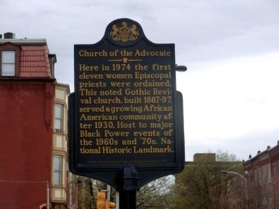 Church of the Advocate Marker image. Click for full size.