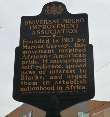 Universal Negro Improvement Association Marker image. Click for full size.