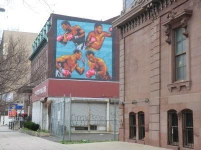Mural on the Freedom Theatre Building image. Click for full size.