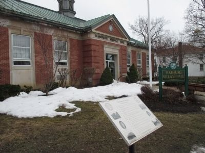 The Village of Hamburg Marker and Offices image. Click for full size.