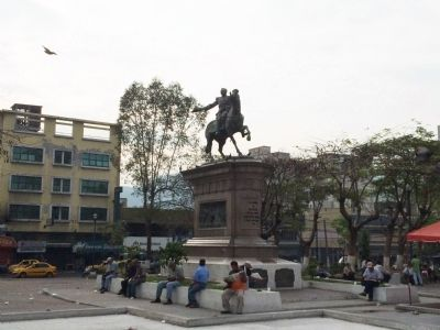 Wide view of Capitán General Gerardo Barrios Marker image. Click for full size.