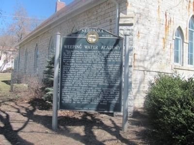 Weeping Water Academy Marker image. Click for full size.