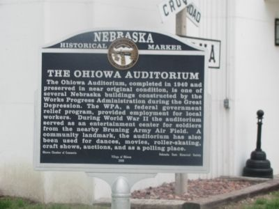 Ohiowa Auditorium Marker image. Click for full size.