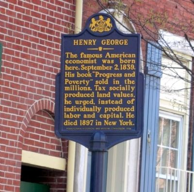 Henry George Marker image. Click for full size.