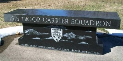 15th Troop Carrier Squadron Bench (Side A) image. Click for full size.