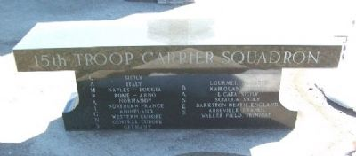15th Troop Carrier Squadron Bench (Side B) image. Click for full size.