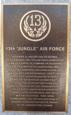 "13th ""Jungle"" Air Force Marker image. Click for full size."