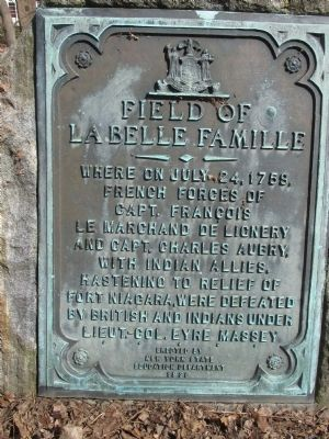 Field of LaBelle Famille Marker image. Click for full size.