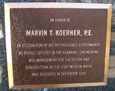 Marvin T. Koerner, P.E. Marker image. Click for full size.