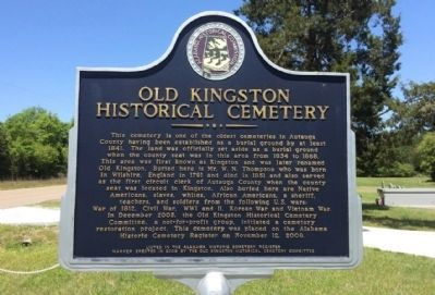 Old Kingston Historical Cemetery Marker image. Click for full size.