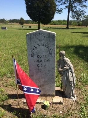 One of the Civil War markers. image. Click for full size.