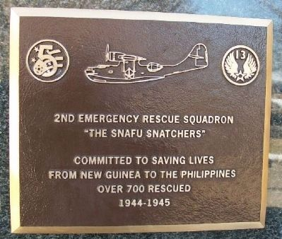 2nd Emergency Rescue Squadron Marker image. Click for full size.