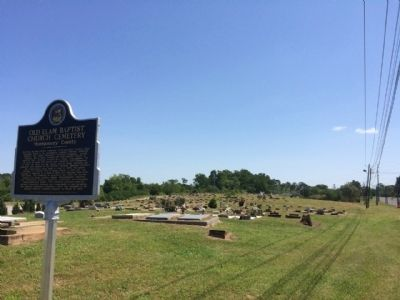 Old Elam Baptist Church Cemetery image. Click for full size.