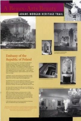 Embassy of the Republic of Poland Marker image. Click for full size.