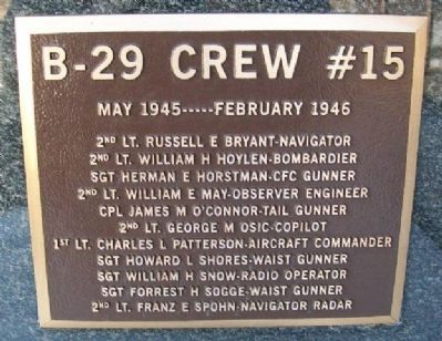 B-29 Crew #15 Marker image. Click for full size.
