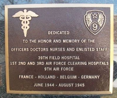 39th Field Hospital Marker image. Click for full size.