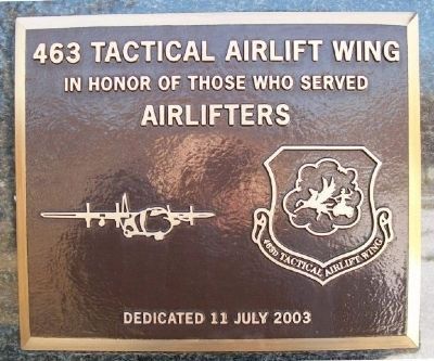 463 Tactical Airlift Wing Marker image. Click for full size.