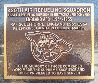 420th Air Refueling Squadron Marker image. Click for full size.