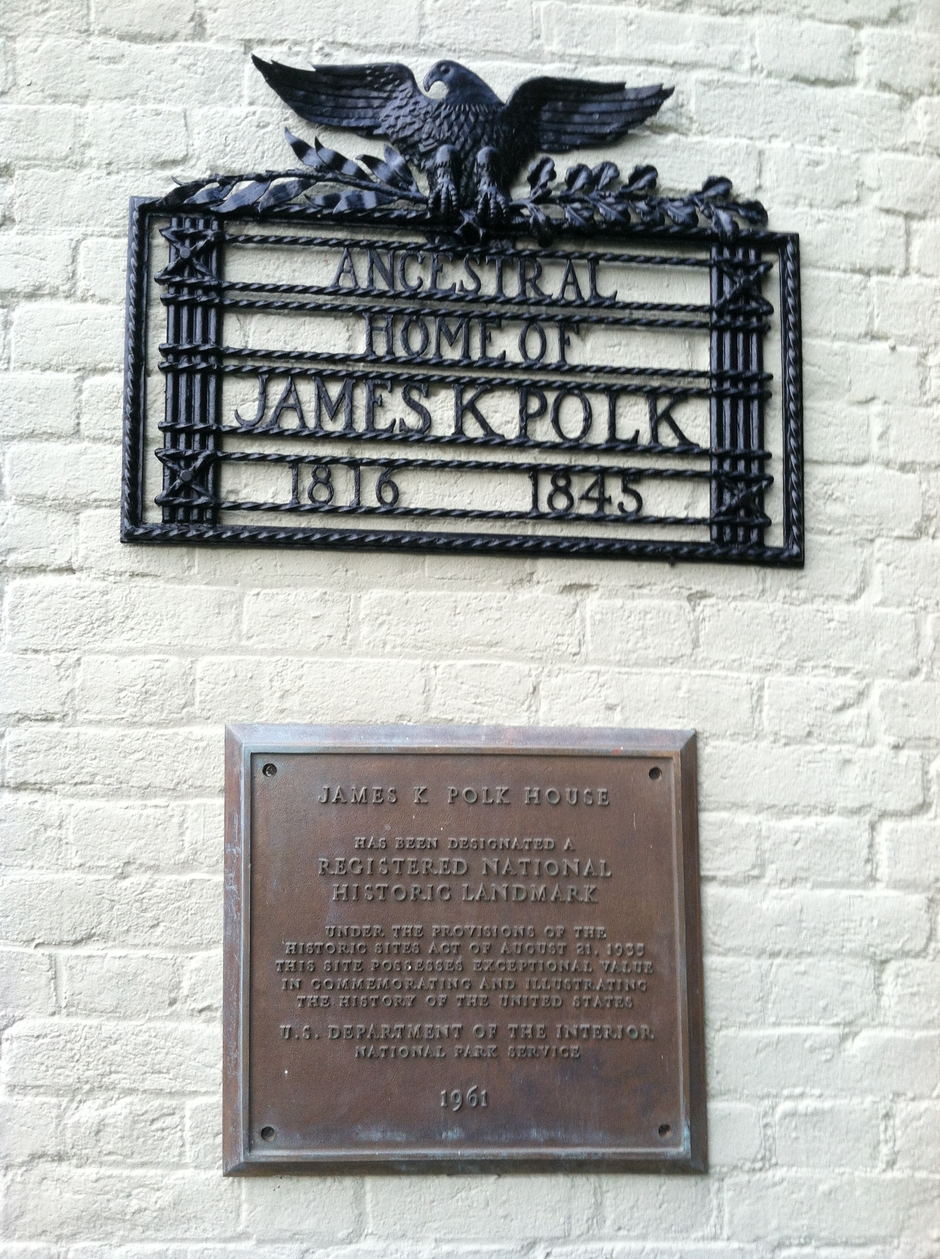 James Knox Polk Marker
