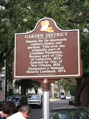 Garden District Marker image. Click for full size.