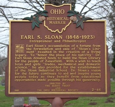 Earl S. Sloan (1848-1923) Marker image. Click for full size.