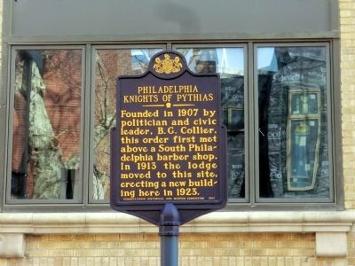 Philadelphia Knights of Pythias Marker image. Click for full size.