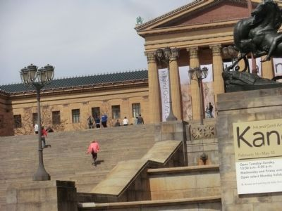 Close up of the Museum steps image. Click for full size.