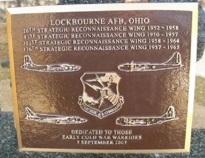 Lockbourne AFB, Ohio Marker image. Click for full size.