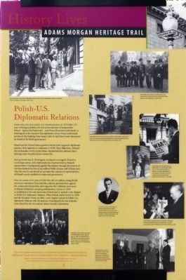 Polish-U.S. Diplomatic Relations Marker image. Click for full size.