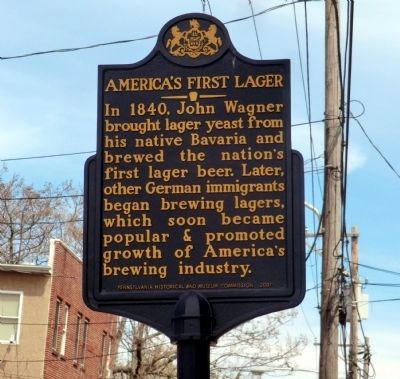 America's First Lager Marker image. Click for full size.