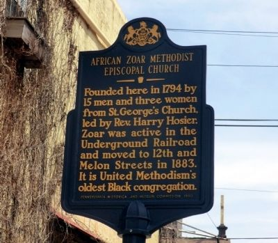 African Zoar Methodist Episcopal Church Marker image. Click for full size.