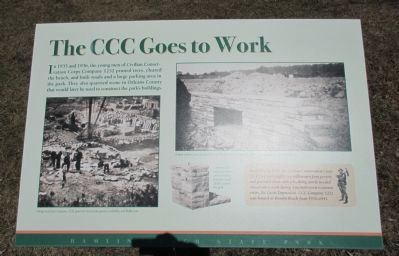 The CCC Goes to Work Marker image. Click for full size.