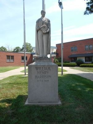 William Henry Harrison Statue by Vincennes University Marker image. Click for full size.