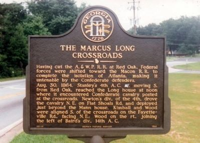 The Marcus Long Crossroads Marker image. Click for full size.