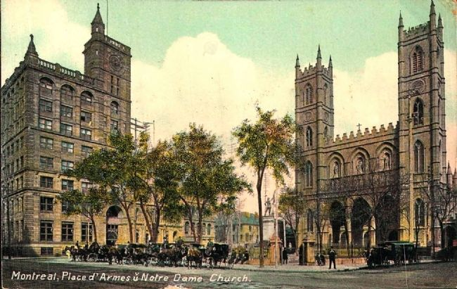 <i>Montreal, Place d&#39;Armes u Notre Dame Church</i> image. Click for full size.