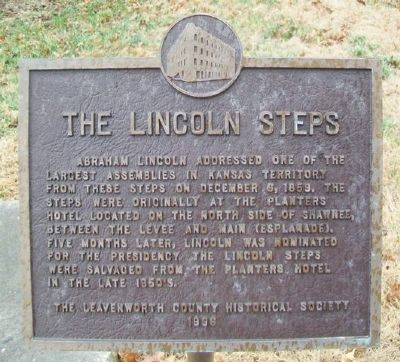 The Lincoln Steps Marker image. Click for full size.