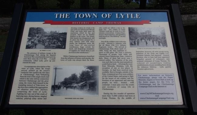 The Town of Lytle Marker image. Click for full size.