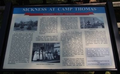Sickness at Camp Thomas Marker image. Click for full size.