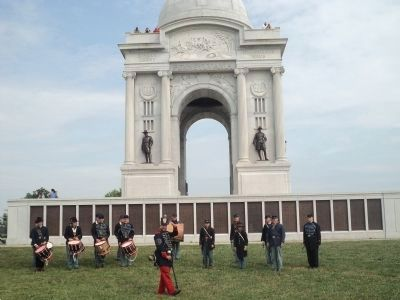 Calvert Arms Fife & Drums at the Pennsylvania Memorial image. Click for full size.