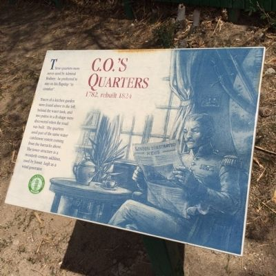 C.O.'s Quarters Marker image. Click for full size.