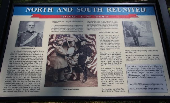 North and South Reunited Marker image. Click for full size.