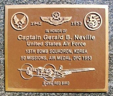 Captain Gerald B. Neville Marker image. Click for full size.