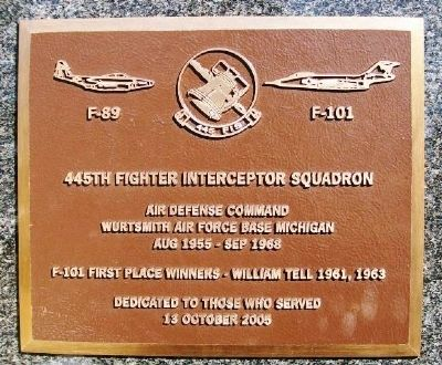 445th Fighter Interceptor Squadron Marker image. Click for full size.