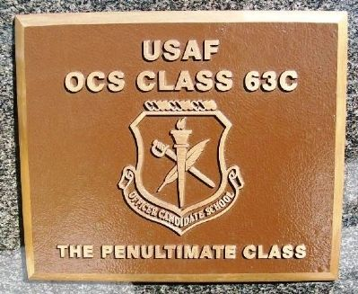 USAF OCS Class 63C Marker image. Click for full size.