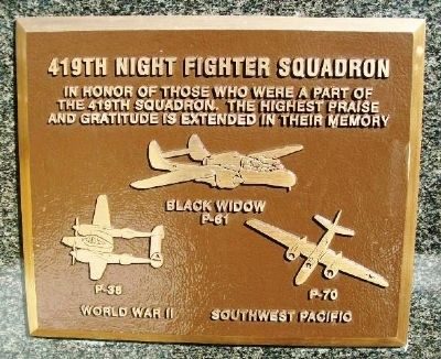 419th Night Fighter Squadron Marker image. Click for full size.